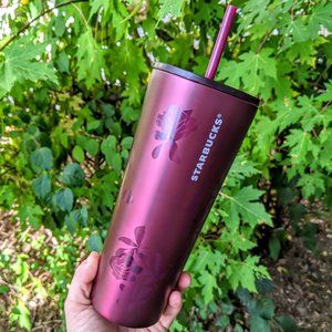 Starbucks Other - NWT Starbucks Plum Rose Tumbler 240z. Fall 2020